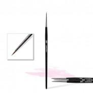 Pinceau Nailart NA n°0, lignes fines, détails, peinture acrylique, gel UV/LED