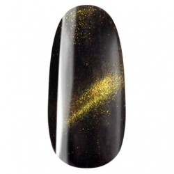 Vernis semi permant, gel lac, n°701 golden, cat eye, magnétique