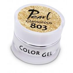 Gel 803 color Glamourous, 5 ml, gel UV/LED, ongles, manucure, gel de couleur, paillettes, pailleté