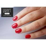 vernis semi-permanent n°133, rouge orangé, manucure, ongles