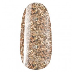 Grosses paillettes en transparence gold n°807, vernis permanent gel lac