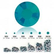 Strass 6 tailles en 1 sachet couleur Blue zircon