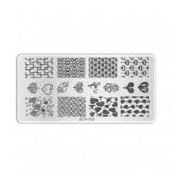 Plaque de stamping B002