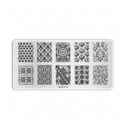 Plaque de stamping B014