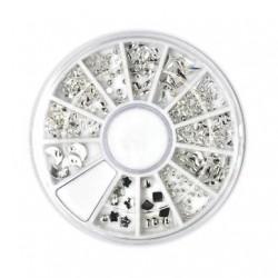 Cadran Nail Art - Ornements métalliques - Silver