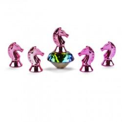 5 Magnétiques Licorne Chrome Rose