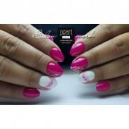 vernis semi-permanent, gel lac 7ml n°383, rose bonbon, Pearl Nails, manucure, ongles