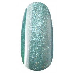 vernis semi-permanent, gel lac 7ml n°508, turquoise pailleté unicorn, Pearl Nails, manucure, ongles