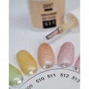vernis semi-permanent, gel lac 7ml n°511, orange pastel pailleté unicorn, Pearl Nails, manucure, ongles