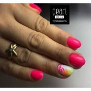 vernis semi-permanent, gel lac 7ml FL20, rose NEON, Pearl Nails, manucure, ongles