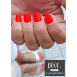 vernis semi-permanent, gel lac 7ml FL21, corail neon, Pearl Nails, manucure, ongles