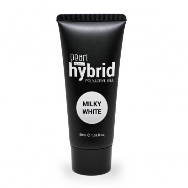 Hybrid PolyAcryl Gel, Milky white 50 ml, gel UV, ongles, manucure